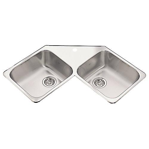 Corner Sink 1 hole drilling