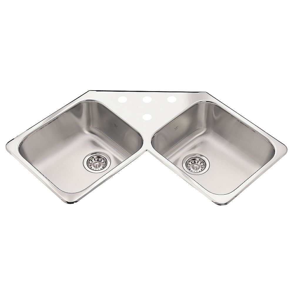 Kindred Corner Sink 4 Hole Drilling The Home Depot Canada