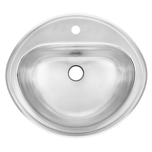 "18 Ga drop-in basin - 16-3/8"" X 18-1/2"" X 7"""