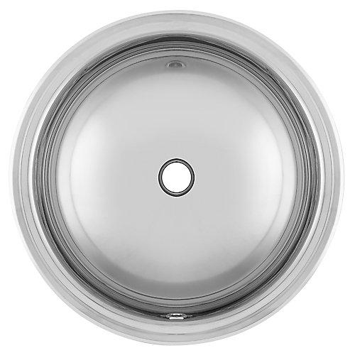 "18 Ga drop-in basin - 18-3/4"" round"