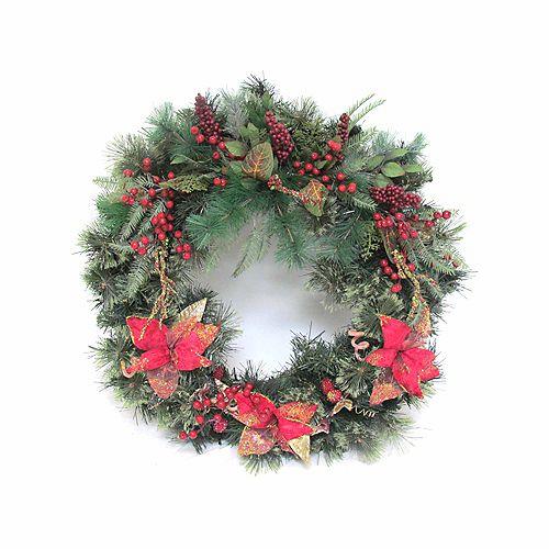 30 -inch Decorated Wreath in Deco Box