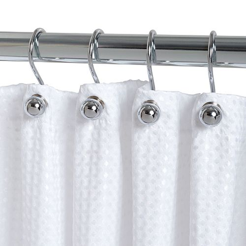Crochets de rideau de douche à rotule Zenna Home en chrome