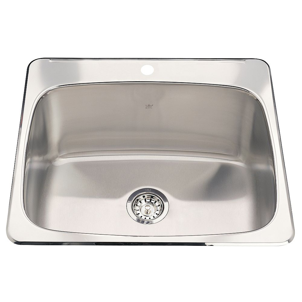 Kindred Single sink 20 Ga 1 hole drilling