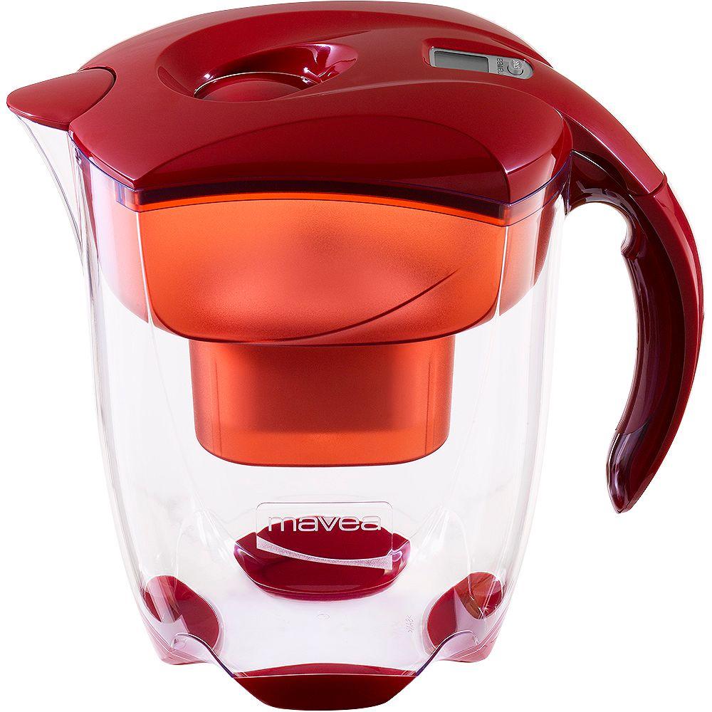 Mavea Elemaris XL  Carafe Filtrante , 9 Verres  Rouge