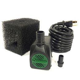 Pompe 850LPH, hauteur de pompage 96cm, arrêt en cas faible niveau d'eau, pompe filtre, cordon 5m