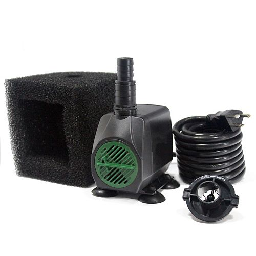 450GPH Fountain Pump, 50-inch Pumping Height, Safe-Stop Low Water Shut Off, Pump Filter, 15ft Cord
