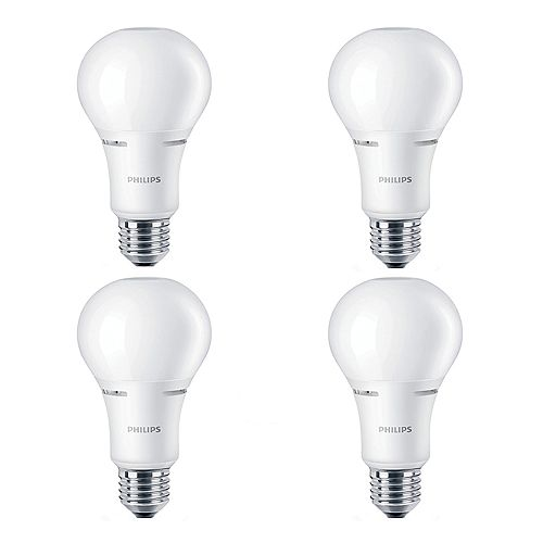 Philips 75W Equivalent Soft White WarmGlow (2700K - 2200K) A21 LED Light Bulb ENERGY STAR® (4-Pack)
