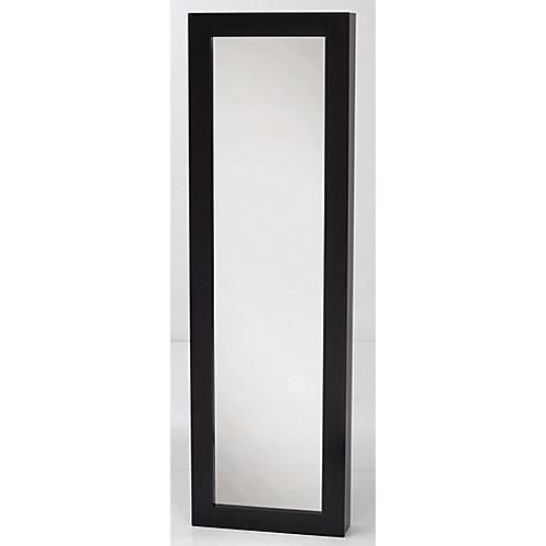 Armoire à Bijoux avec Miroir, Noir