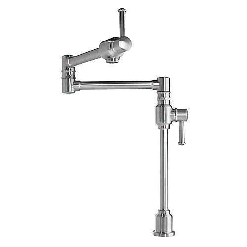 Deck mount pot filler faucet