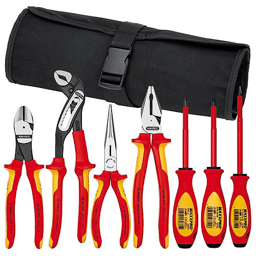 7-Piece Pliers/Screwdriver Tool Set-1,000v, Nylon Pouch - See Part No. 9k 98 98 25 US