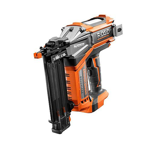 18V Cordless Brushless HYPERDRIVE 18-Gauge 2-1/8-inch Brad Nailer (Tool Only) Belt Clip, Bag, and Sample Nails