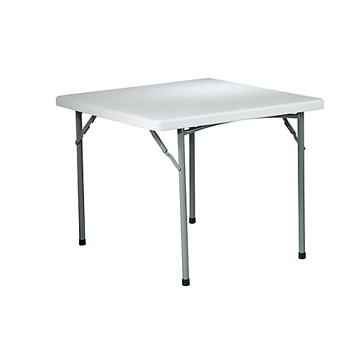 36-inch x 36-inch Square Resin Table