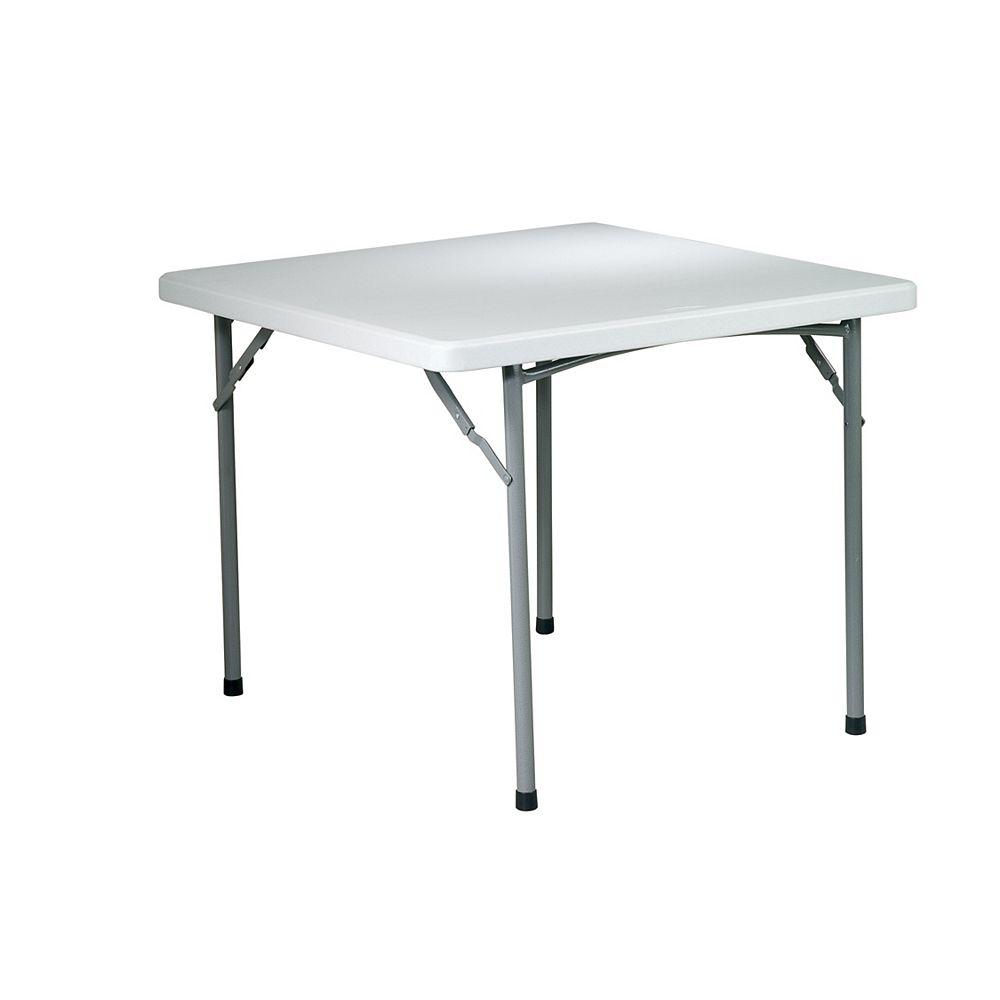 OSP Designs Table carrée  de 36 po en résine