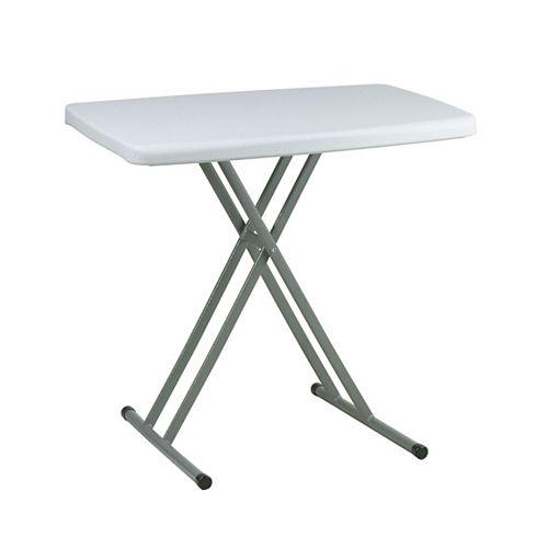 Table pliante personnelle à usages multiples ajustables en hauteur; ensemble de 4