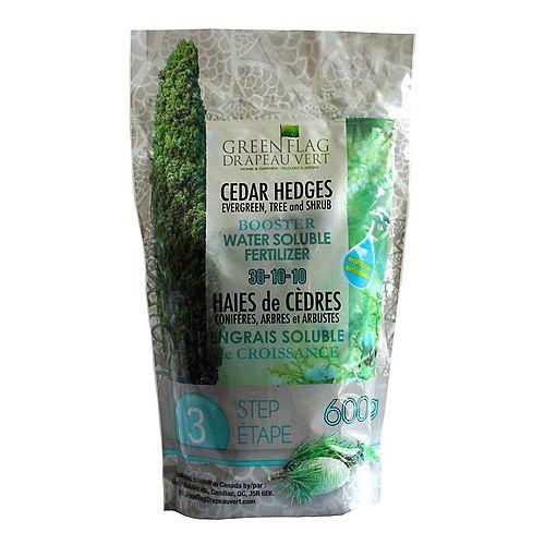30-10-10 engrais hydrosoluble pour les haies de cèdres, étape 3, 1kg