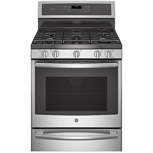 "30"" 5.6 cu. ft. Single Oven Dual Fuel Range with Self-Cleaning Convection Oven in Stainless Steel"