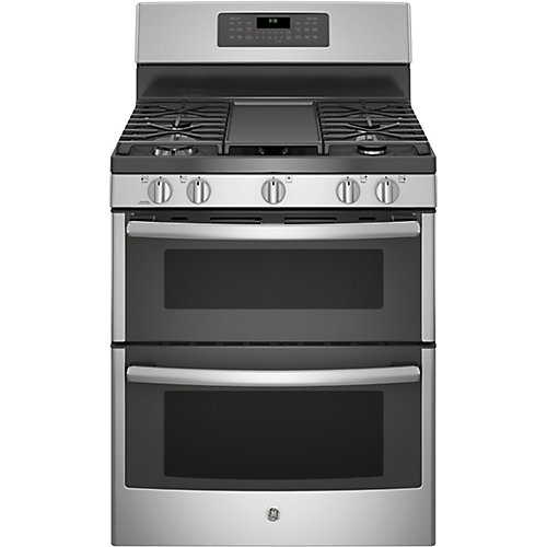 30-inch 6.8 cu. ft. Double Oven Gas Range with Self-Cleaning Convection Oven in Stainless Steel