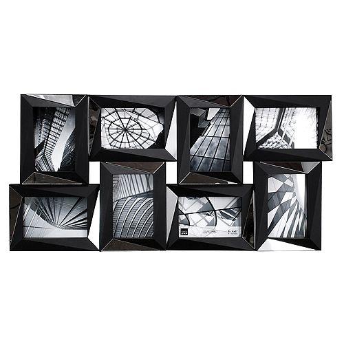 Mira miroir 15 x 22.5 po Collage noir cadre - détient  8- 4 x 6 po photos