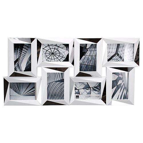 Mira miroir 15 x 22.5 po Frame mur blanc Collage - détient  8- 4 x 6 po photos