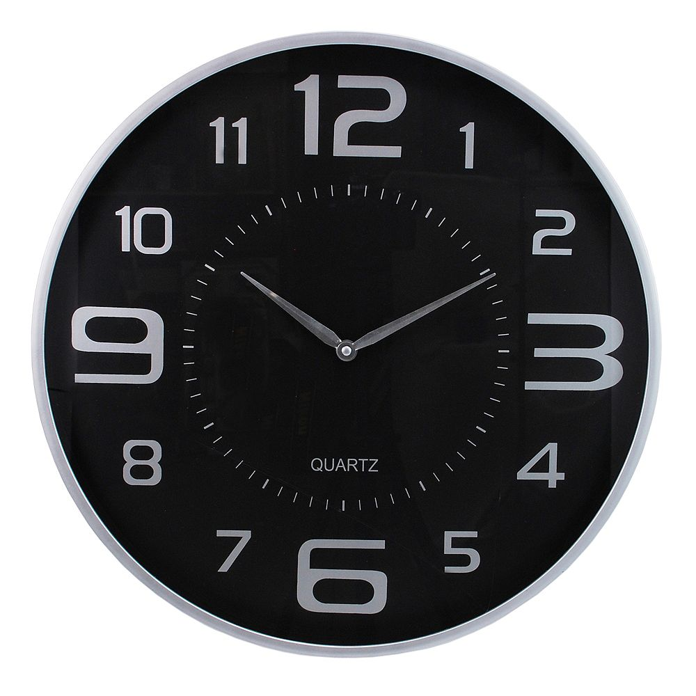 Kiera Grace Modern 18 Inch.  Wall Clock With Large Dial And Sleek Silver Profile