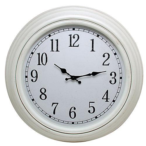 """Emmerson 20"""" Horloge murale ronde avec Distressed Terminer Blanc et aux intempéries Dial"""