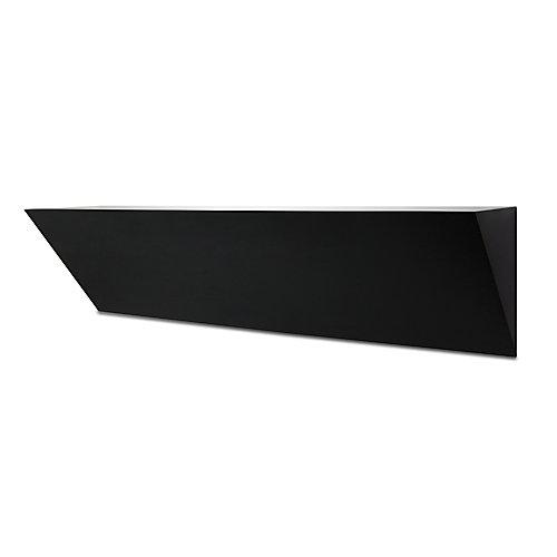 Étagère corniche Wedge de 24po  noire