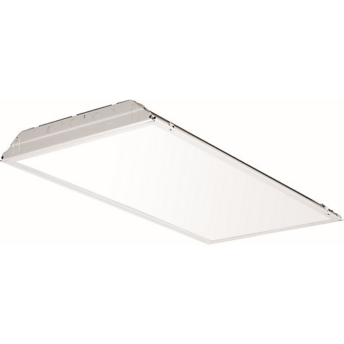 2 ft. x 4 ft. Smooth White Lens Lay-In LED Troffer