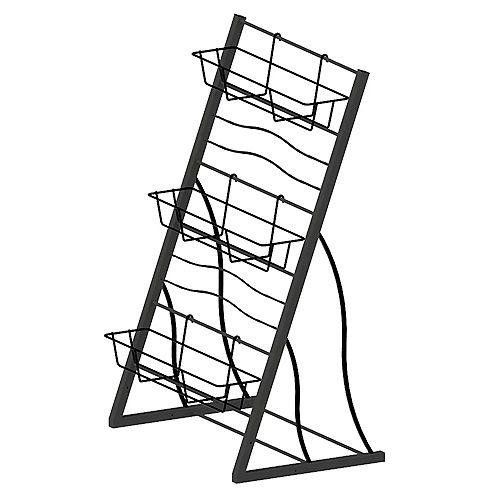 42-inch 3-Tier Vertical Garden Rack in Black