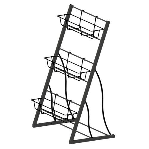 Étagère de jardin verticale, 3 étage, 42 po. Noir