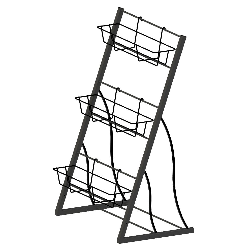 Peak Products 42-inch 3-Tier Vertical Garden Rack In Black