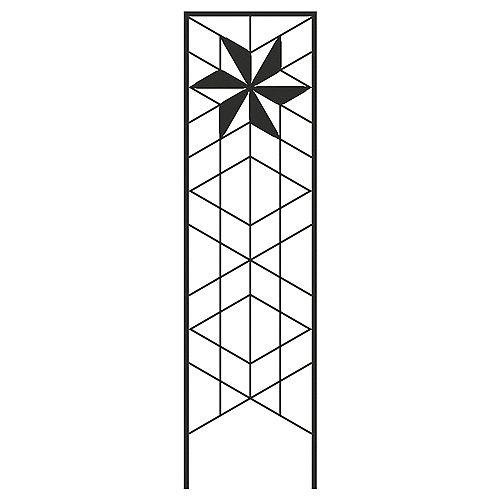 72-inch x 20-inch Twilight Trellis in Black
