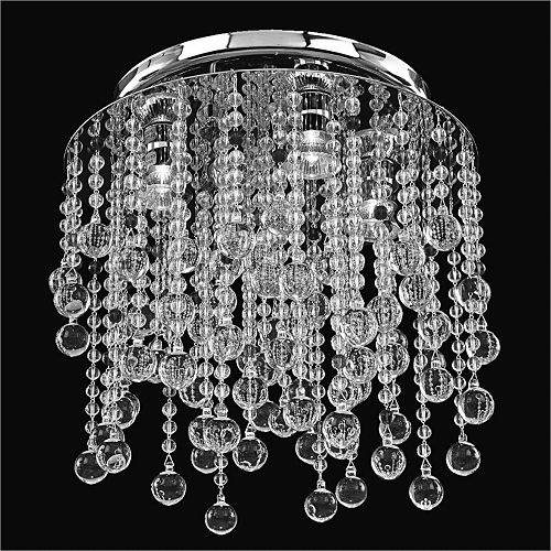 Glow Lighting Flush Mount 15 Inch W Crystal Rain 566 Glow