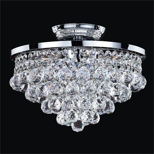 Vista 6-Light Chrome et Crystal lumière affleurante