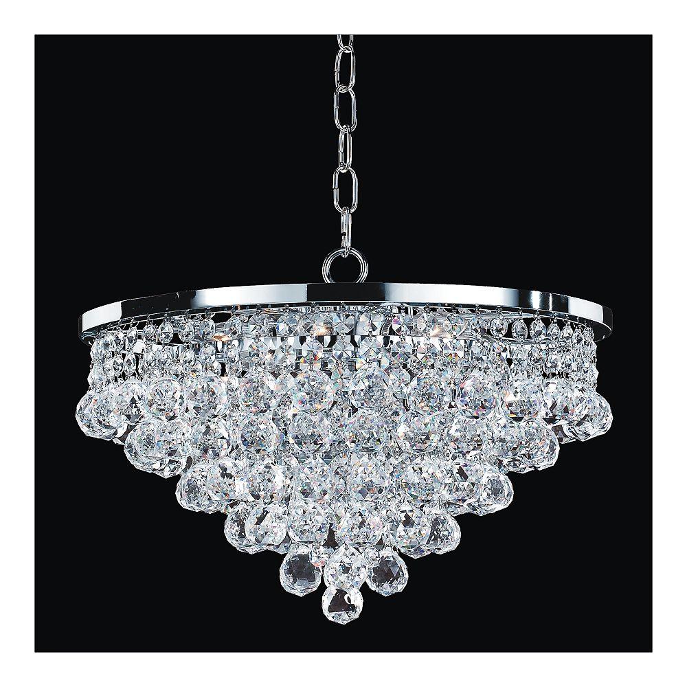 Glow Lighting Chandelier 15 Inch W Vista 628 Glow
