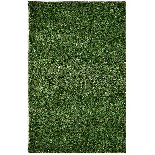 Lanart Rug Grass Shag Green 8 ft. x 10 ft. Rectangular Area Rug