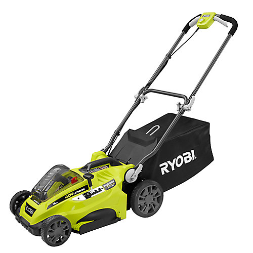 16-inch 40V Li-Ion Cordless Battery Push Lawn Mower - 4.0 Ah Battery and Charger Included