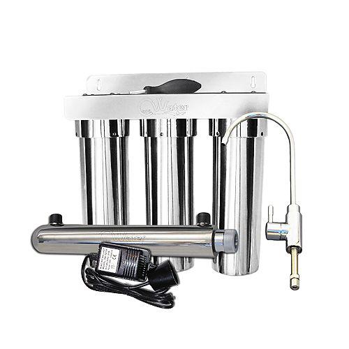 Système de filtration d'eau CasaWater Under-sink  en acier inoxydable