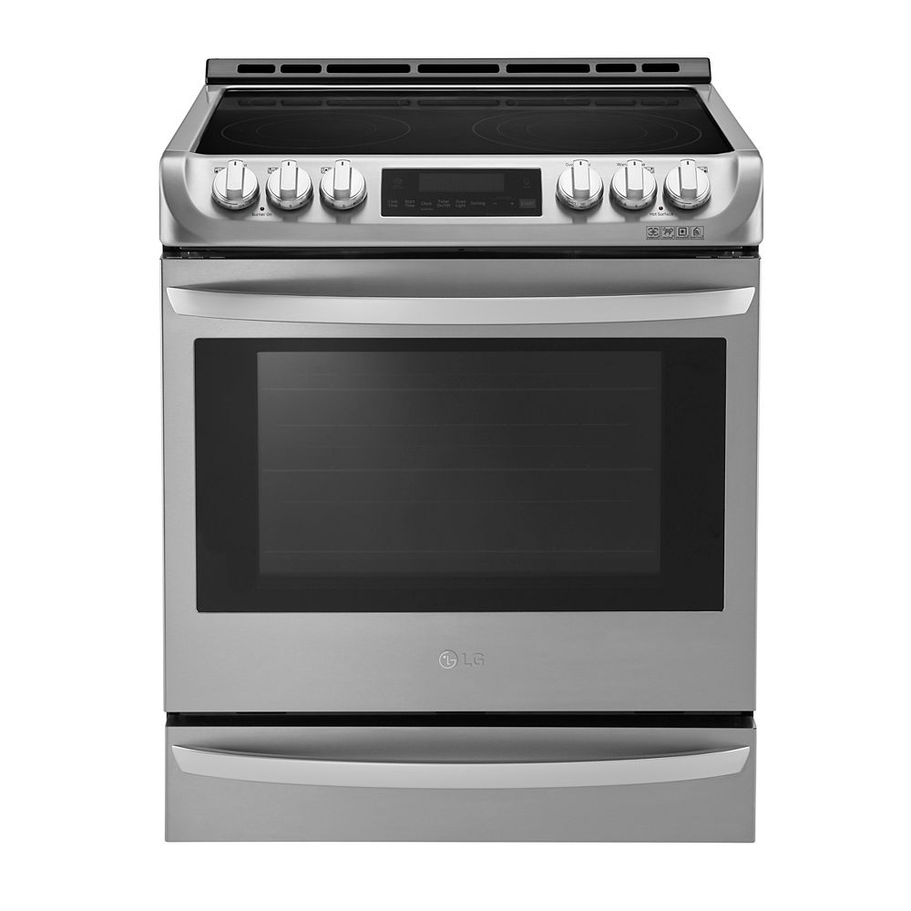 LG Electronics 6.3 cu. ft. Electric Slide-In Range with ProBake Convection and EasyClean® in Stainless Steel