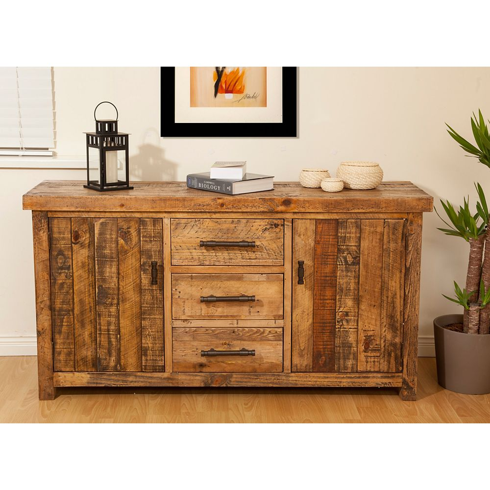 JR Home Collection Reclaimed Wood Country Cottage Side Board