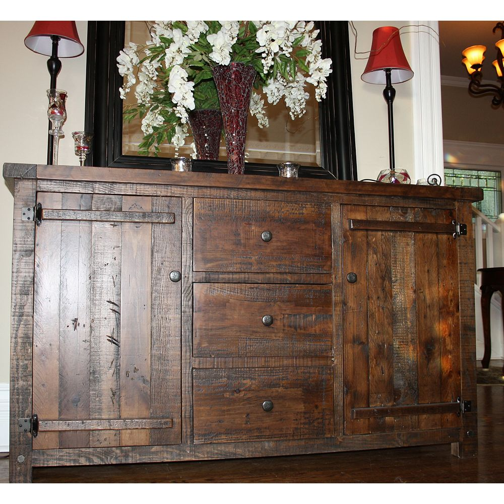 JR Home Collection Reclaimed Wood Rustic Side Board