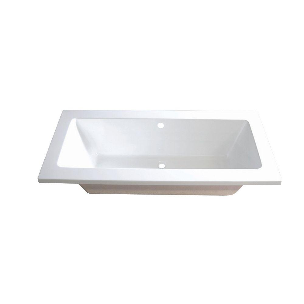 Valley Jason Acrylic Drop-in Bathtub in White