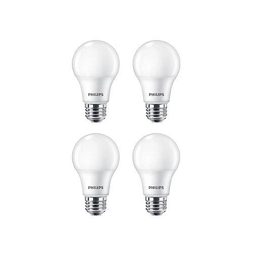 60W Soft White (2700K) A19 LED Light Bulb (4-Pack)