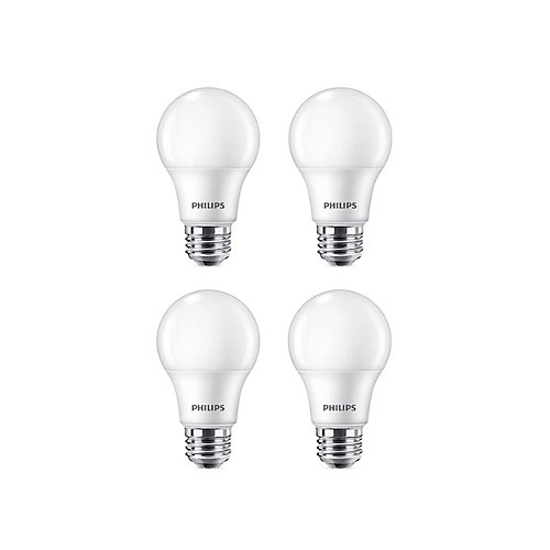 9W=60W Soft White  A19 LED  Light Bulb (4-pack)