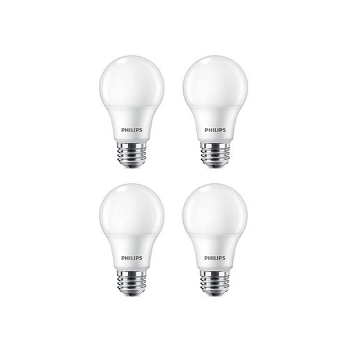 9W=60W Daylight A19 LED  Light Bulb (4-pack)