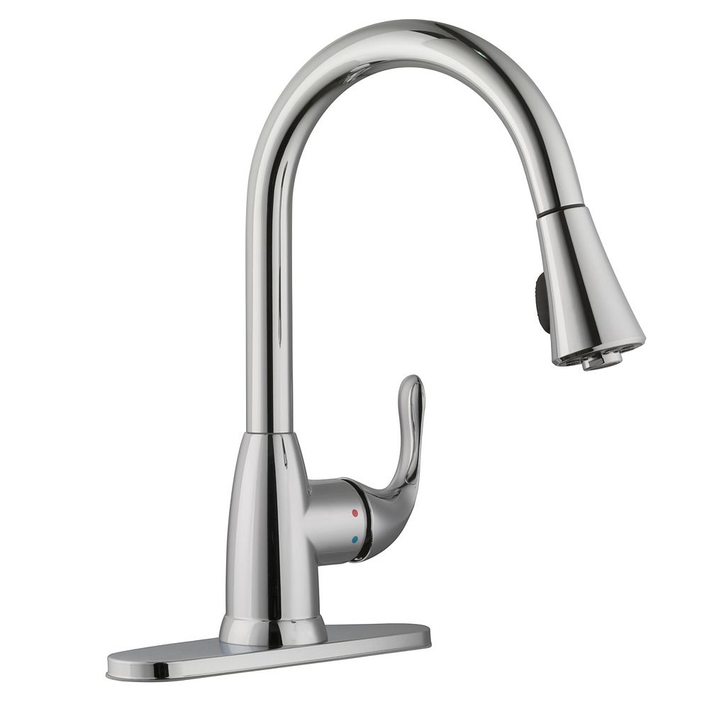 Glacier Bay Market Single-Handle Pull-Down Kitchen Faucet Sprayer in Polished Chrome