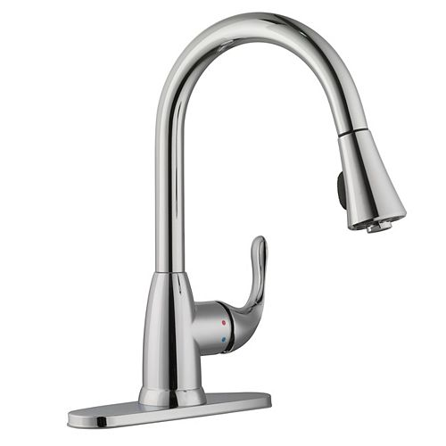 Market Single-Handle Pull-Down Kitchen Faucet Sprayer in Polished Chrome
