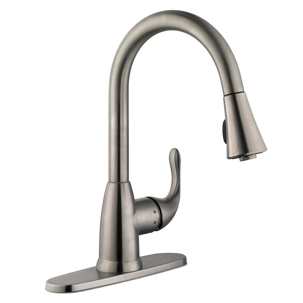 Glacier Bay Market Single-Handle Pull-Down Sprayer Kitchen Faucet in Stainless Steel
