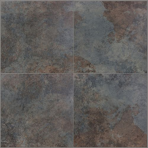 "18""""x18"""" Rajah Rust Porcelain Tile, Set of 7 (15.60 sq.ft. per box)"