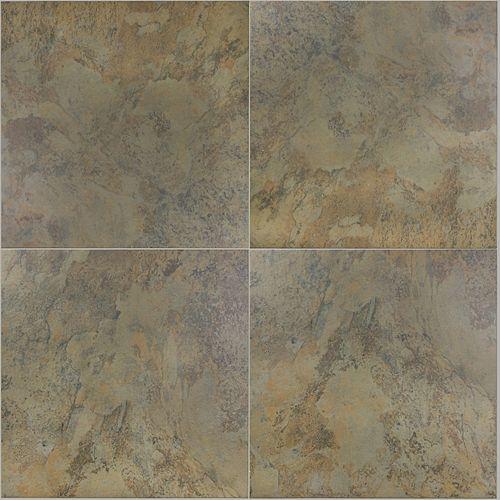"20""""x20"""" Tundra Olive Porcelain Tile (6-Piece / 16.68 sqft per box)"
