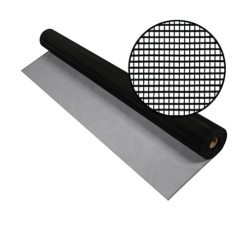 48-inch x 100 ft. Black Aluminum Screen